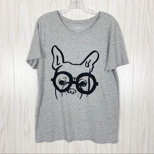 Loft | Dog Glasses Graphic Print Tee
